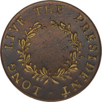 George Washington: A Stunning 1789 Inaugural Clothing Button with Original Gilded Lettering