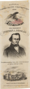 Political:Ribbons & Badges, Stephen A. Douglas: One of the Premier 19th Century Political Ribbons....