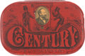 Political:3D & Other Display (pre-1896), Garfield & Hancock: A Wonderful Mechanical Lithograph Tin Tobacco Box Which Allowed the Owner to Display the Portrait of His P...
