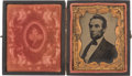 Political:Miscellaneous Political, Abraham Lincoln: Unusual Large Size on this Cased LincolnTintype....