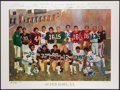Football Collectibles:Photos, 1986 Super Bowl MVPs Lithograph Signed by Len Dawson. ...