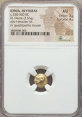Ancients:Greek, Ancients: IONIA. Erythrae. Ca. 550-500 BC. EL sixth stater or hecte(2.56 gm). NGC AU 3/5 - 4/5....