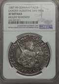 German States:Saxony, German States: Saxony. Christian II Taler 1587-HB XF Details (Mounted Cleaned) NGC,...