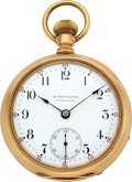 Timepieces:Pocket (post 1900), Ball & Co. Railroad Watch Co. Hamilton, Gold Case. ...