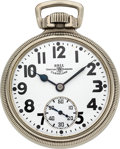 Timepieces:Pocket (post 1900), Ball 998 Elinvar 23 Jewel Official Railroad Standard. ...