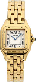 Timepieces:Wristwatch, Cartier Lady's Gold Panthere. ...
