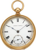 Timepieces:Pocket (pre 1900) , Waltham Model 1877 Appleton Tracy & Co. Massive 18K Key Wind....
