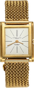 Timepieces:Wristwatch, Audemars Piguet For Cartier Important Gold Watch Of Iconic Film Director Sidney Lumet. ...