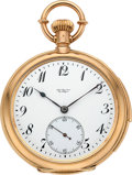 Timepieces:Pocket (post 1900), Jules Jurgensen Gold Bow Set Minute Repeater Presented To J. Parker, circa 1919. ...