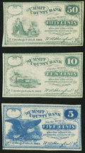 Obsoletes By State:Ohio, Cuyahoga Falls, OH- W.A. Hanford at Summit County Bank 5¢; 10¢; 50¢1862. ... (Total: 3 notes)