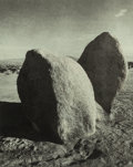 Photographs:Gelatin Silver, Joan Myers (American, b. 1944). Four Photographs of the Agoura fire and one rock study, 1979. Platinum. 8 x 10 inches (2... (Total: 5 Items)