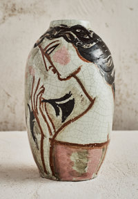René Buthaud (French, 1886-1986) Deux Femmes Vase, 1922-1923 Glazed earthenware 10-1/4 inches hig