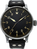 Timepieces:Wristwatch, Wempe German Aviator's Watch, B-Uhr Fl 23883, circa 1940's. ...