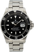 Timepieces:Wristwatch, Rolex Ref. 16610 Steel Submariner, Original Box & Papers, circa 1995. ...