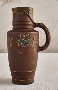 Albert-Louis Dammouse (French, 1848-1926) Floral Jug, 1883-1884 Glazed stoneware 9-1/2 inches hig