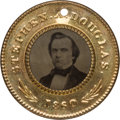 Political:Ferrotypes / Photo Badges (pre-1896), Stephen A. Douglas: Minty Back-to-Back Ferrotype....