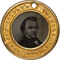 Political:Ferrotypes / Photo Badges (pre-1896), Stephen A. Douglas: Medium Size Back-to-Back Ferrotype....