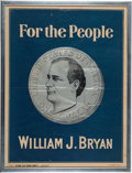 Political:Posters & Broadsides (1896-present), William Jennings Bryan: Great Silver Dollar Poster....