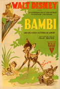 "Movie Posters:Animation, Bambi (RKO, 1942). Argentinean One Sheet (28.25"" X 43"").. ..."