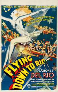 "Flying Down to Rio (RKO, R-Late 1930s-Early 1940s). Canadian One Sheet (26.25"" X 41.5"")"