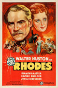 "Movie Posters:Drama, Rhodes (Gaumont, 1936). One Sheet (27"" X 41"") Styl..."