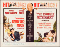 """The Man Who Knew Too Much/The Trouble with Harry Combo(Paramount, R-1963). Half Sheet (22"""" X 28""""). Hitchcock..."""