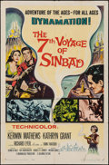 """Movie Posters:Fantasy, The 7th Voyage of Sinbad (Columbia, 1958). Folded, Fine. One Sheet (27"""" X 41""""). Fantasy.. ..."""