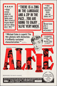 "Alfie & Other Lot (Paramount, 1966). Folded, Very Fine-. One Sheet (27"" X 41"") & Spanish One Sheet (27..."