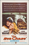 """Movie Posters:War, The Sea Chase (Warner Brothers, 1955). One Sheet (27"""" X 41""""). War....."""