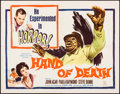 "Movie Posters:Horror, Hand of Death (20th Century Fox, 1962). Half Sheet (22"" X 28""). Horror.. ..."
