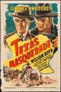 "Movie Posters:Western, Texas Masquerade (United Artists, 1944). One Sheet (27"" X 41""). Western.. ..."