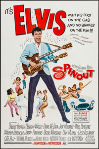 "Spinout (MGM, 1966). One Sheet (27"" X 41""). Elvis Presley"