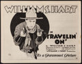 "Movie Posters:Western, Travelin' On (Paramount, 1922). Title Lobby Card (11"" X 14""). Western.. ..."
