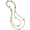 Estate Jewelry:Necklaces, Turquoise, Freshwater Cultured Pearl, Gold Necklace. ...