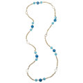 Estate Jewelry:Necklaces, Dyed Chalcedony, Cultured Pearl, Mother-of-Pearl, Gold Necklace....