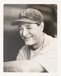 Baseball Collectibles:Photos, Late 1930's Lou Gehrig Original Photograph by George Burke, PSA/DNAType 1. ...