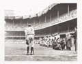 "Baseball Collectibles:Photos, 1990's Babe Ruth ""The Babe Bows Out"" Nat Fein Photograph, PSA/DNAType 2. ..."