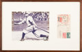 Baseball Collectibles:Others, 1945 Honus Wagner Signed First Day Cover Display. ...