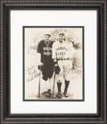 Baseball Collectibles:Photos, 1927 Lou Gehrig Signed Bustin' Babes vs. Larrupin' LousBarnstorming Photograph....
