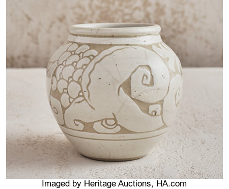 Emile Lenoble (French, 1875-1939) Vase, circa 1925 Glazed stoneware 5-1/4 inches high (13.5 cm) Stamped to the under...