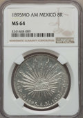 Mexico, Mexico: Republic 8 Reales 1895 Mo-AM MS64 NGC,...