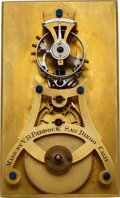 Timepieces:Other , V.B. Paddock, San Diego Calif. Fine Lever Escapement Model, circa1900. ...