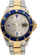 Timepieces:Wristwatch, Rolex Ref. 16613 Steel & Gold Submariner With Serti Dial, circa 2003. ...