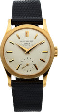 Timepieces:Wristwatch, Patek Philippe Very Fine Ref. 96 Gold Calatrava For Tiffany &Co., circa 1958. ...