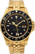 Timepieces:Wristwatch, Rolex Ref. 16718 Gold GMT Master-II Oyster Perpetual Chronometer,circa 1990. ...