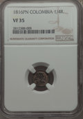 Colombia, Colombia: Ferdinand VII 1/4 Real 1816-PN VF35 NGC,...