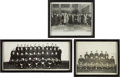 Football Collectibles:Photos, 1930 Notre Dame Fighting Irish Original Photographs Lot of 3....