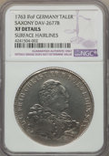 German States:Saxony, German States: Saxony. Friedrich Christian Taler 1763-IFoF XF Details (Surface Hairlines) NGC,...