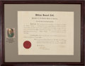 Autographs:U.S. Presidents, William Howard Taft Document Signed...