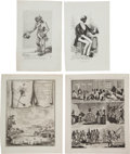Miscellaneous, Four Engravings Portraying Views of Blacks, Slavery, and PlantationLife.... (Total: 4 Items)